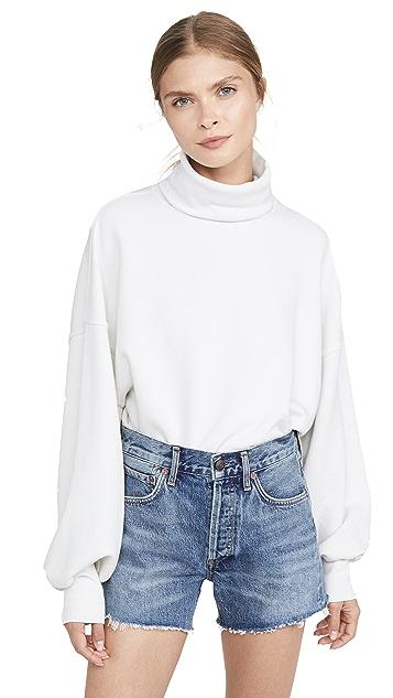 AGOLDE 灯笼袖高领运动衫