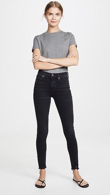 AGOLDE Sophie 中腰及踝九分牛仔裤