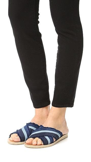 Ancient Greek Sandals Thais 牛仔布无跟便鞋