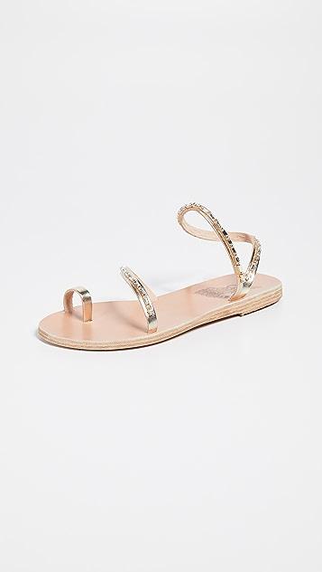 Ancient Greek Sandals Apli Eleftheria Diamonds 凉鞋