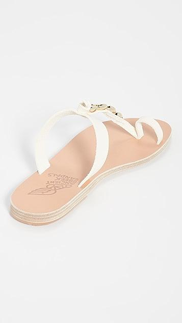 Ancient Greek Sandals 鸢尾贝壳凉鞋