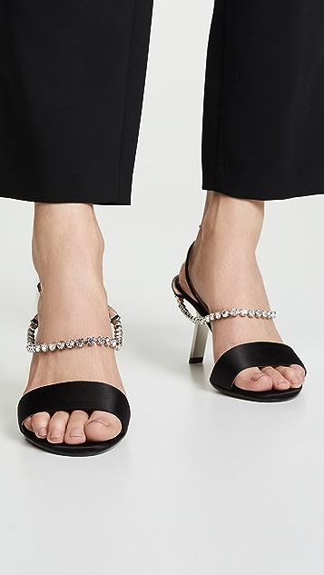 Alchimia di Ballin 缎质仿钻凉鞋