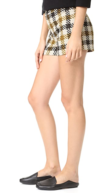 alice + olivia Marisa 后拉链短裤