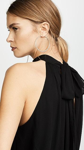 alice + olivia Maris 褶皱挂脖上衣