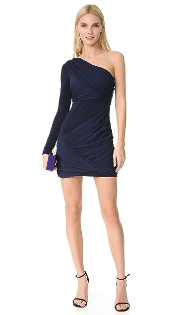 alice + olivia Crissy 裹身单袖女神范连衣裙