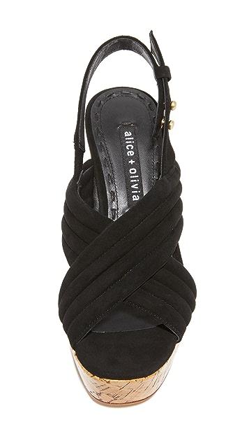 alice + olivia 爱丽丝+奥利维亚 Charlize 厚底凉鞋