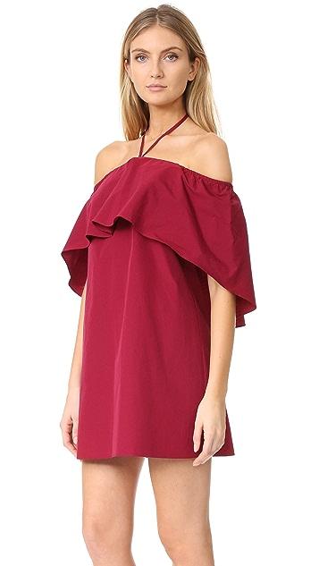 alice + olivia Jade 披肩式连衣裙