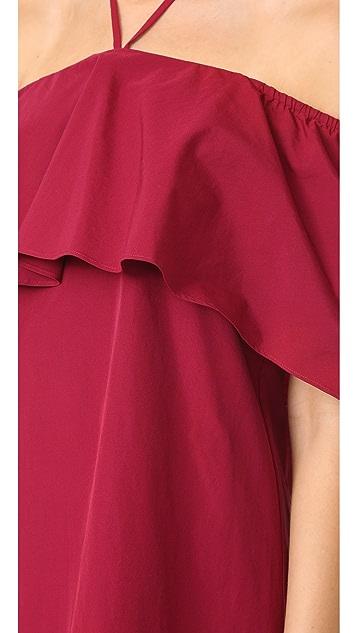 alice + olivia 爱丽丝+奥利维亚 Jade 披肩式连衣裙