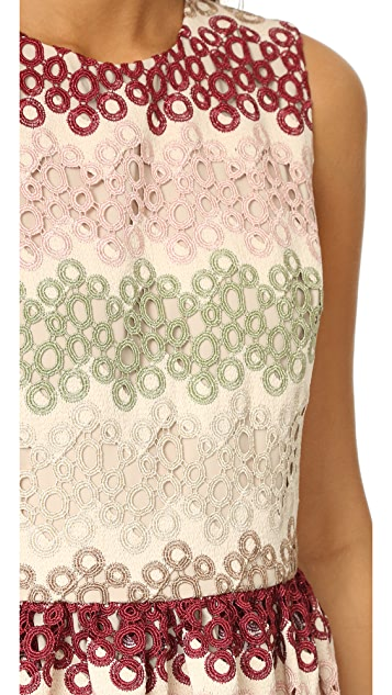 alice + olivia Joyce 圆领派对连衣裙