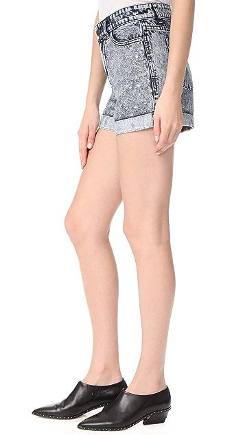 alice + olivia Kenda 铆钉高腰短裤