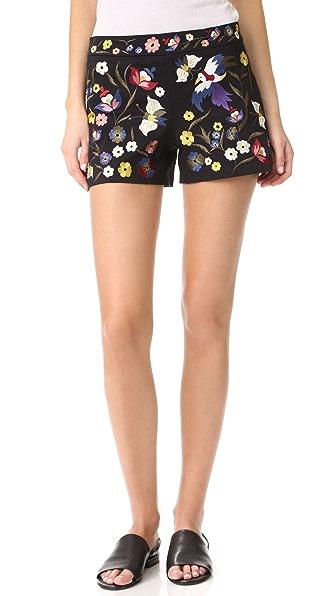 alice + olivia Marisa 刺绣短裤