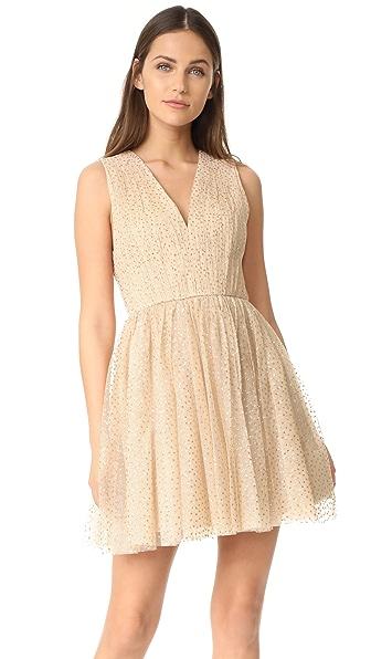 alice + olivia Monica 褶皱派对连衣裙