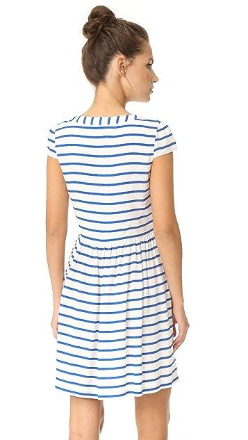 alice + olivia 爱丽丝+奥利维亚 York 系扣连衣裙