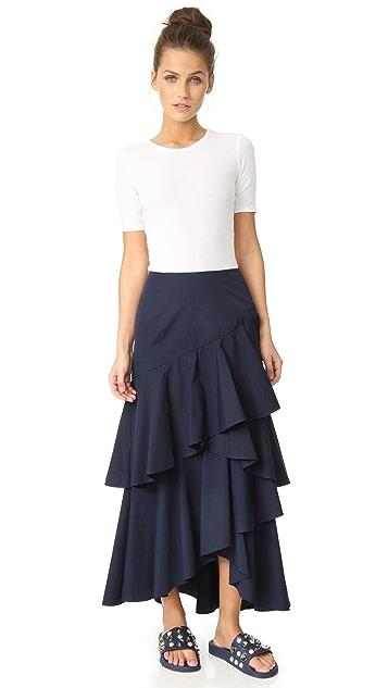 alice + olivia Martina 不对称高低不对称荷叶边半身裙