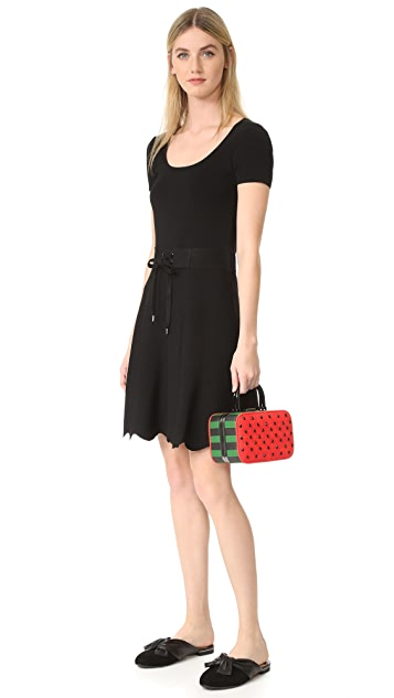 alice + olivia 爱丽丝+奥利维亚 Drew Watermelon Frame 箱型包