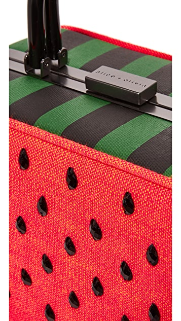 alice + olivia Drew Watermelon Frame 箱型包