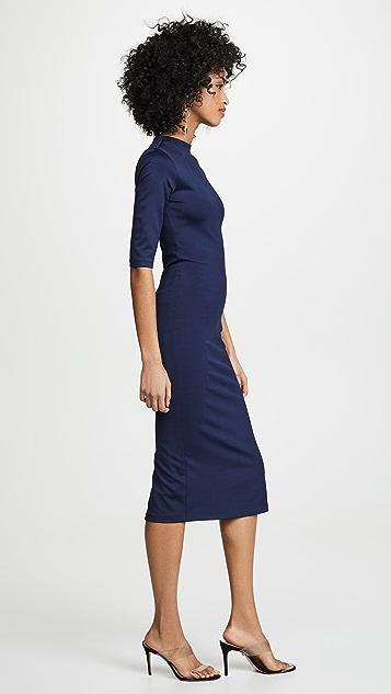 alice + olivia Delora 合身半高领连衣裙