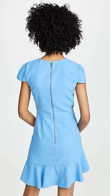 alice + olivia Fable 不对称荷叶短袖连衣裙
