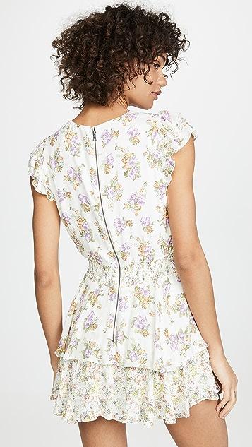 alice + olivia Mariska 荷叶边短裤裙短款连身衣
