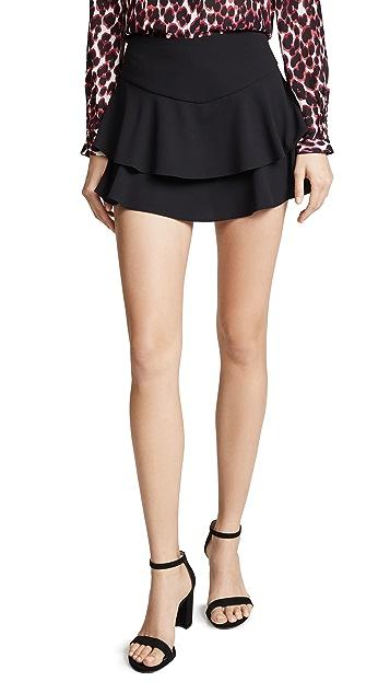 alice + olivia Paloma 荷叶边短裤裙