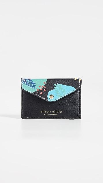 alice + olivia Lexi 印花交叠卡片包