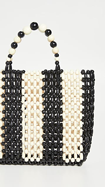 alice + olivia Zoey 木质珠饰包