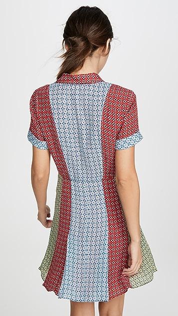 alice + olivia Abelia 系扣衬衣式连衣裙