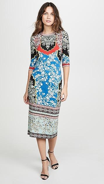 alice + olivia Delora 圆领连衣裙