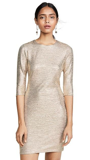 alice + olivia Delora 合身圆领连衣裙
