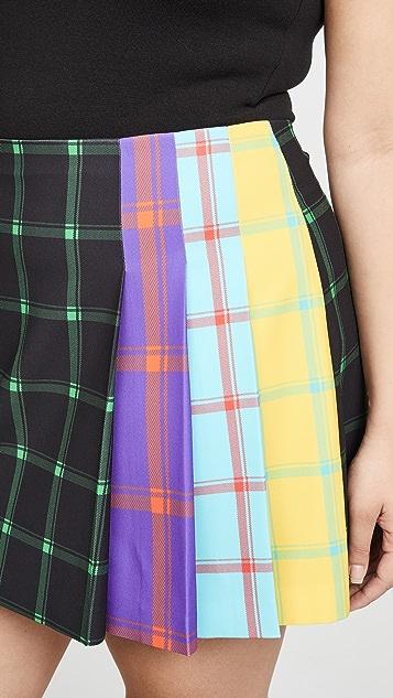 alice + olivia Semira 褶皱迷你裙