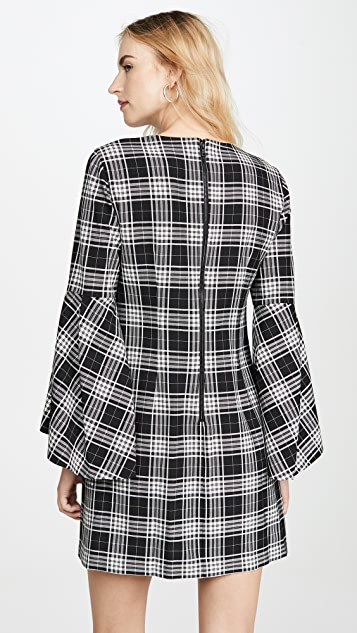alice + olivia Thym 喇叭袖连衣裙