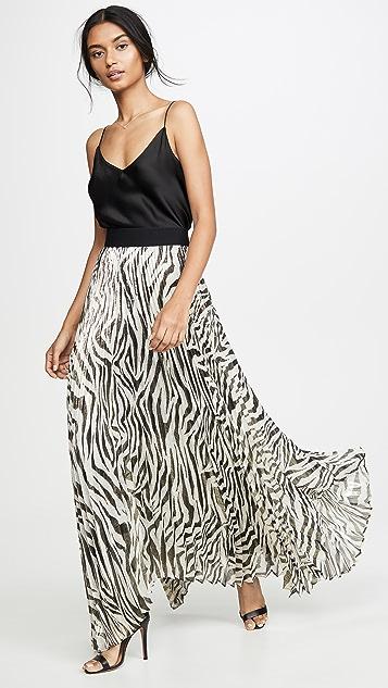 alice + olivia Katz 旭日形褶皱半身长裙