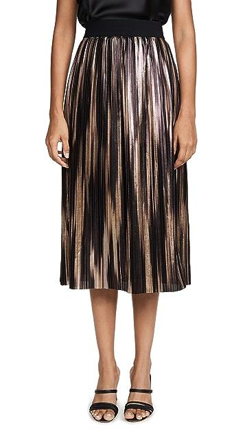 alice + olivia Mikaela Midlength 裥褶半身裙