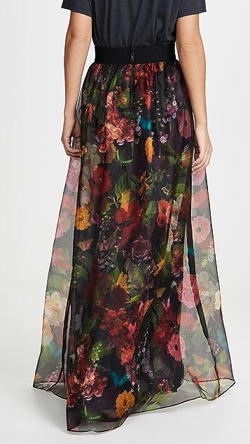 alice + olivia Yvonne 褶皱半身长裙