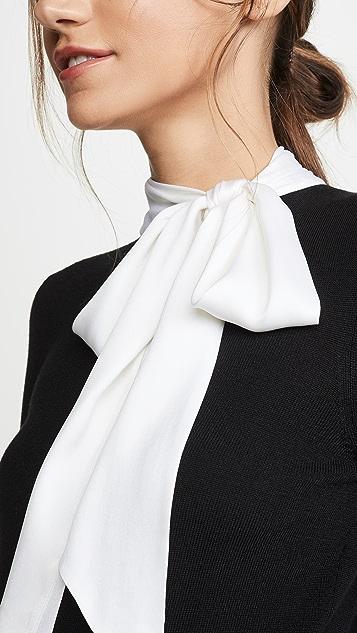 alice + olivia Justina 绑带领口组合长袖套头衫