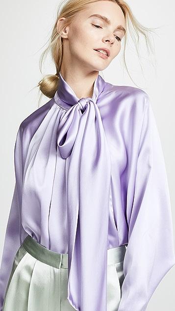 Adam Lippes 真丝蝙蝠袖女式衬衫