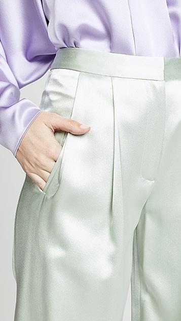 Adam Lippes 正面褶皱裤子