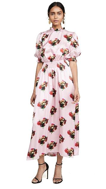 Adam Lippes 花卉印花抽褶连衣裙