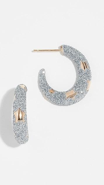 Alison Lou 14k Petite Etoile 圈式耳环