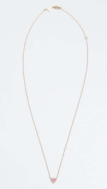 Alison Lou 14K 钻石心形项链