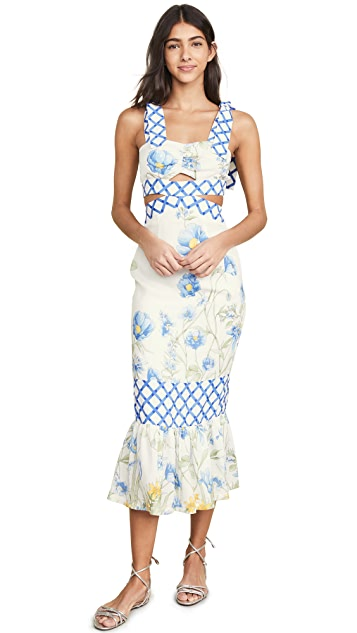 Alice McCall 花朵女孩中长肩带连衣裙