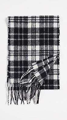 아미 AMI Wool Scarf,Black/White