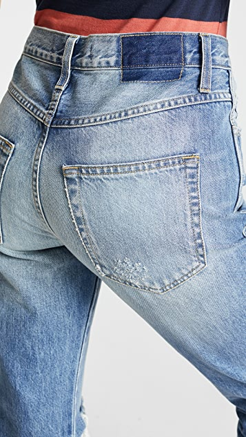 AMO Loverboy 高腰休闲直筒牛仔裤