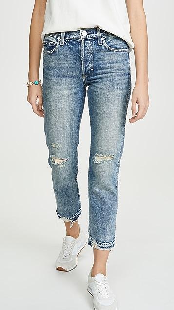 AMO Rigid Babe 高腰修身直筒牛仔裤