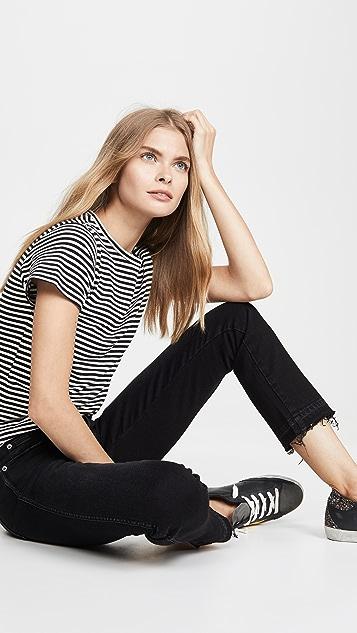 AMO Babe 高腰修身版型牛仔裤