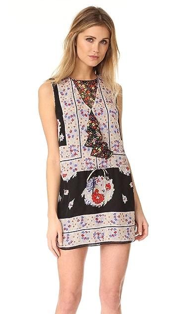Anna Sui Bouquet 围巾式印花连衣裙