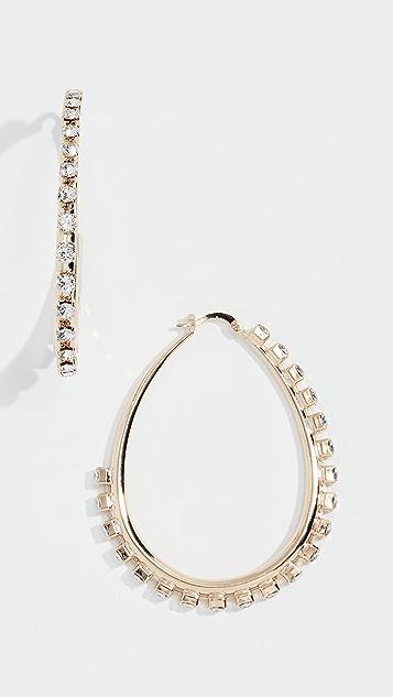 Anton Heunis 水晶圆圈耳环