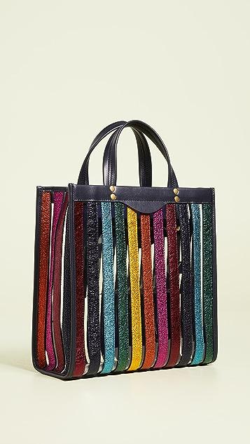 Anya Hindmarch 多色条纹小号手提袋