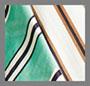 白/棕褐色/水鸭青条纹