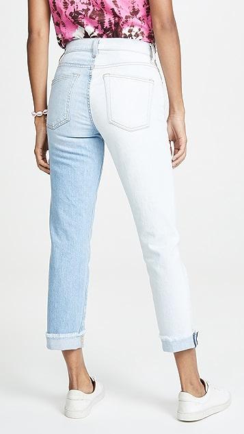 ALICE + OLIVIA JEANS Amazing 不对称修身直脚牛仔裤
